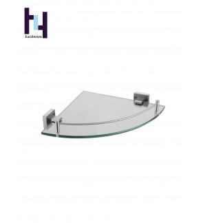 BATHROOM STEEL SUS304 TEMPERED CORNER GLASS SHELF #HWBF81803
