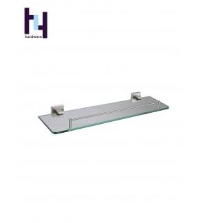 BATHROOM STEEL SUS304 TEMPERED GLASS SHELF #HWBF81805