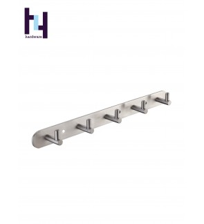 BATHROOM STEEL SUS304 SHELF CLOTH HANGER HOOK #HWBF89005