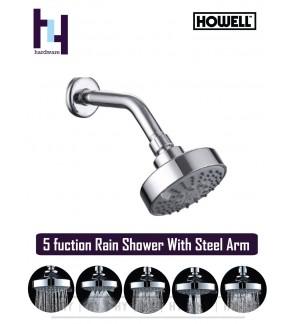 BATHROOM FAUCET ABS RAIN SHOWER C/W ARM  HWSH201 (5 FUNCTION)