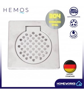 HEMOS 6 x 6 150MM 304 STEEL FLOOR TRAP GRATING HM - 108