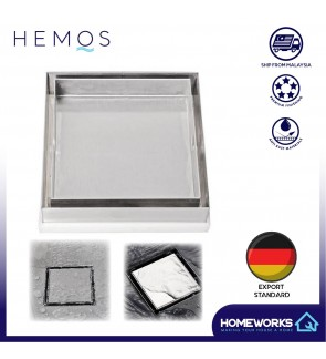 HEMOS INVISIBLE 304 STEEL MOSAIC TILE FLOOR TRAP GRATING HM-103 ANTI-SMELL TRAP