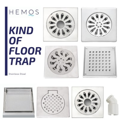 HEMOS 304 STEEL WASHING MACHINE FLOOR TRAP GRATING HM - 105