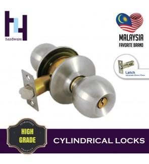 CYLINDRICAL HOUSE ROOM DOOR LOCK TOMBOL PINTU TC3380 SS