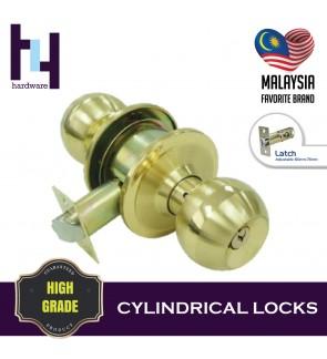 CYLINDRICAL HOUSE ROOM DOOR LOCK GOLD TOMBOL PINTU TC8871 SB/XL
