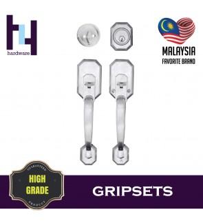 GRIPSET ENTRANCE MAIN DOOR HANDLE LOCK TOMBOL PINTU DEPAN TC-3388