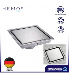 HEMOS BATHROOM FITTINGS STAINLESS STEEL SUS 304 TILED INSERT FLOOR GRATING HMBF-101