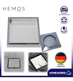 HEMOS INVISIBLE STEEL MOSAIC TILE FLOOR TRAP GRATING HM-104