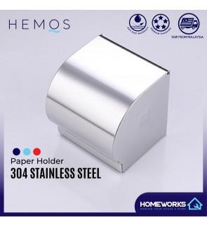 HEMOS BATHROOM FAUCET STAINLESS STEEL SUS 304 PAPER HOLDER HM-89917 (MATT SILVER)