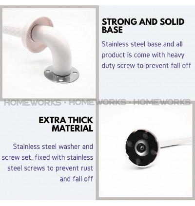HEMOS BATHROOM SUS304 STEEL SAFETY HANDICAPED HANDBAR HANDLE GRAB BAR PEMEGANG TANDAS