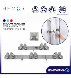 HEMOS SUS304 STAINLESS STEEL UMBRELLA MOP BROOM HOLDER STORAGE PEMEGANG PENYAPU HM-88000,88001,88002,88003