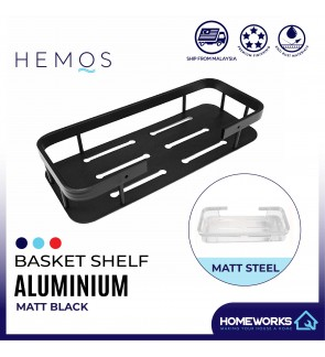 HEMOS BATHROOM FAUCET ALUMINUM CORNER BASKET HM-81105 (MATE BLACK,SILVER)