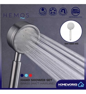 HEMOS BATHROOM FAUCET 304 STAINLESS STEEL 120CM SHOWER PIPE AND HAND SHOWER HM-1350, HM-1370-MS
