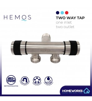 HEMOS BATHROOM FAUCET STAINLESS STEEL SUS 304 2 IN 1 TWO WAY TAP HM-3227-MS