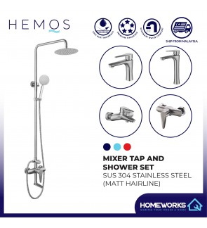 HEMOS STEEL MIXER BASIN TAP MIXER EXPOSED BATH SHOWER WITH TAP 3 MODE SHOWER SETS HM-11SERIES