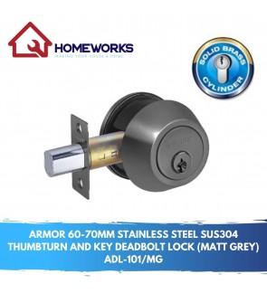 60-70MM 304 S/STEEL THUMBTURN AND KEY DEADBOLT DOOR LOCK ADL-101