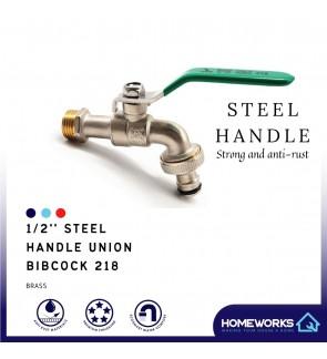 BOB 1/2'' STEEL HANDLE UNION OUTDOOR WASHING MACHINE BIBCOCK 218