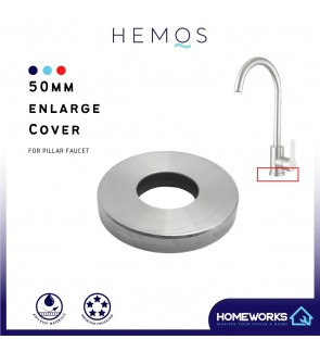 HEMOS PARTS 50MM ENLARGE SINK TAP BOTTOM EXTEND COVER ONLY HM-0010