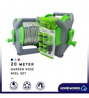 MITCO 20M PVC GARDEN SPRAYER HOSE REEL (INCLUDED PVC HOSE) MSRH620