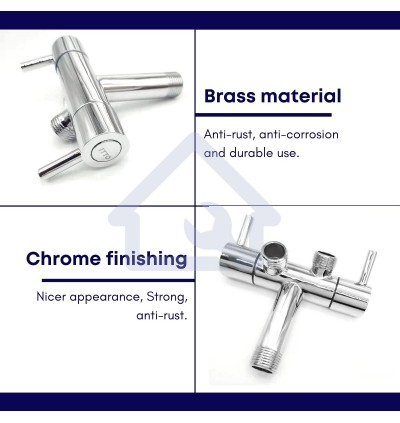 [CLEARANCE SALES] BATHROOM ACCESSORY SUS 304 STAINLESS STEEL HAND BIDET SET TWO WAY TAP