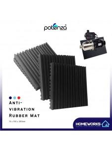 POTENZA 15X150X200MM ANTI-VIBRATION ANTI-NOISE RUBBER MAT FOR WATER PUMP MAT GETAH ANTI-VIBRASI
